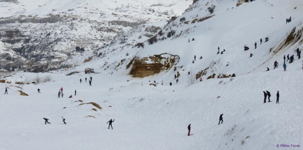 Snow fun mountains Beirut Lebanon