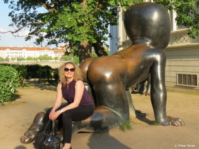 Me & one of the Bronze Babies of David Černý in Kampa Park
