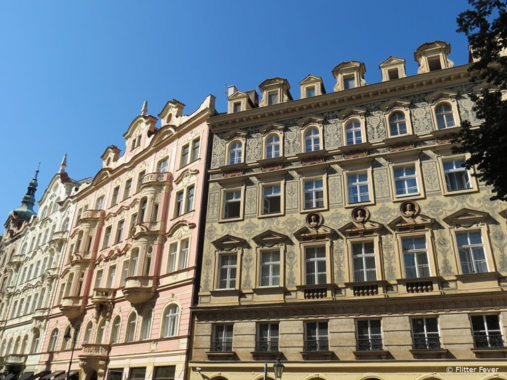 So many beautiful buildings in Old Town Prague Praag Oude Stad