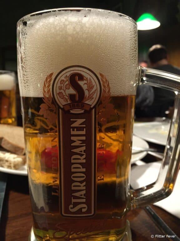 A decent pint at U Bileho Lva in Praha 5