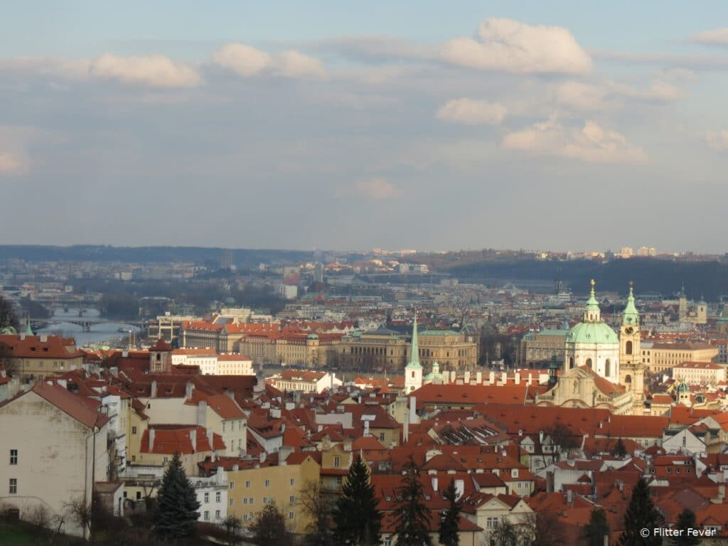 View on Prague from uphill