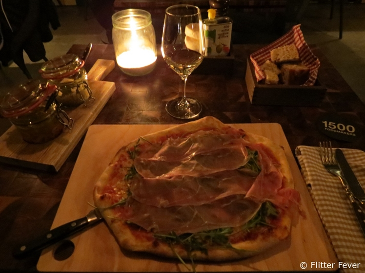 Delicious pizza at 1500 Foodmakers inside 25hours Hotel Vienna