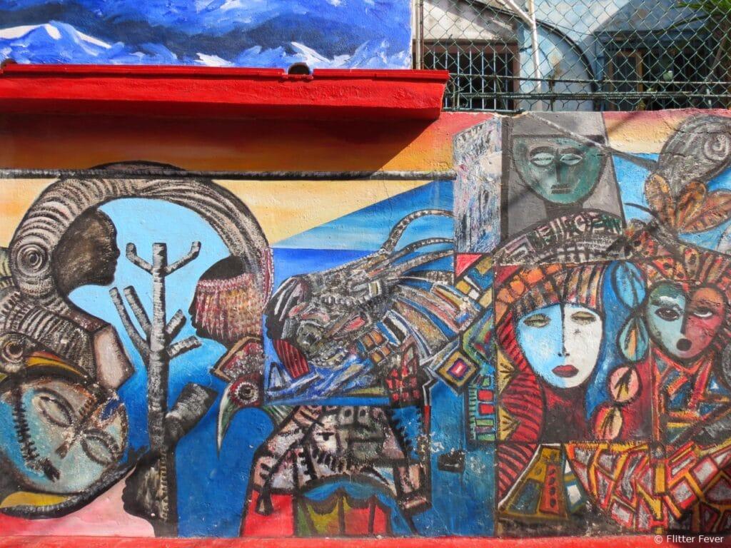 Callejon de Hamel colorful art Havana Cuba