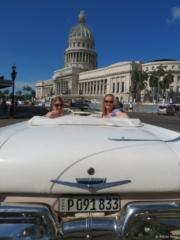 Car Capitol friends Cuba Havana ride