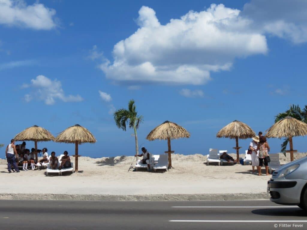 Car beach playa Malecon Havana Habana