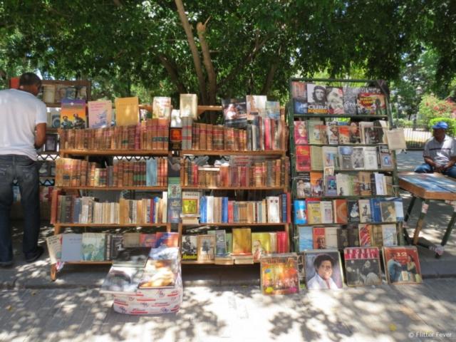 Plaza de Armas book market Havana Cuba