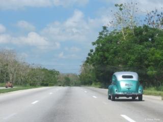 Highway view from Havana to Pinar del Rio Cuba