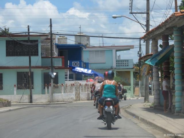 motors scooters Cuba road