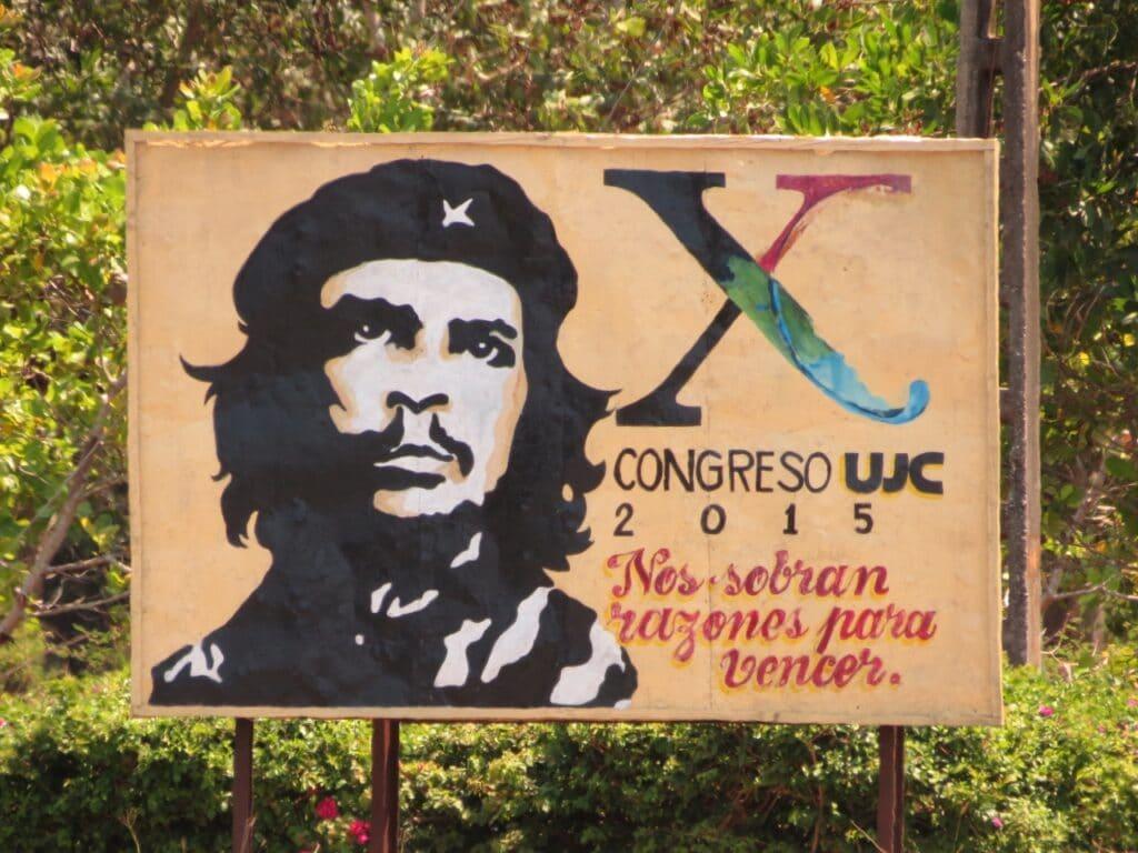Che Guevara propaganda billboard Cuba