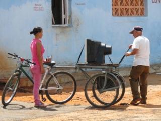 bike TV solution Cuban Viñales Cuba