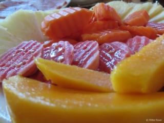 Fresh cut fruit Casa Hostal Idael & Dania Matanzas Cuba