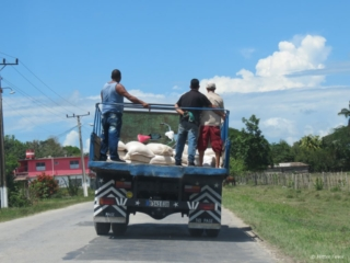 Truck with people in Cuba