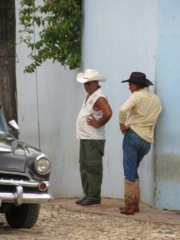 Men discussing @ Trinidad