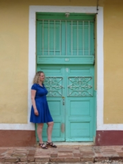 Beautiful colorful doors in downtown Trinidad Cuba