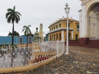 Plaza Mayor Trinidad after heavy rainfall