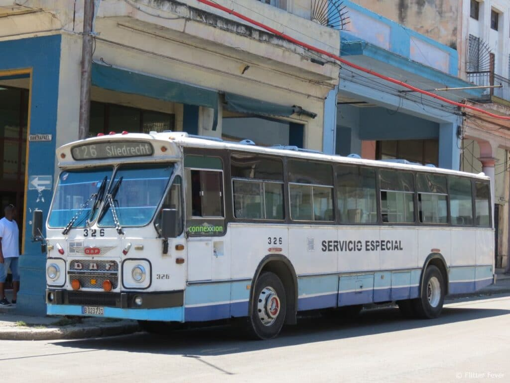 Old Dutch bus in Havana, Cuba