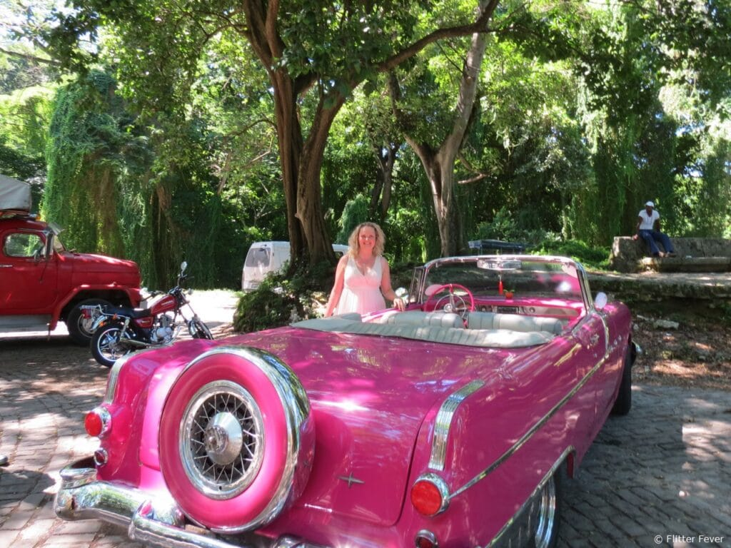 Me & my pink car & El Bosque, Havana