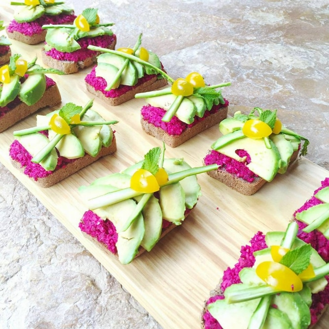 Food porn on a plate @ Healthy Yoga Retreat