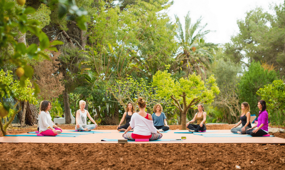Yoga platform @ Morna Retreats