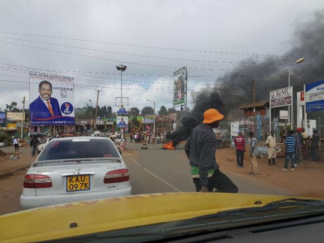 Linda in Kenya while the first election riots started