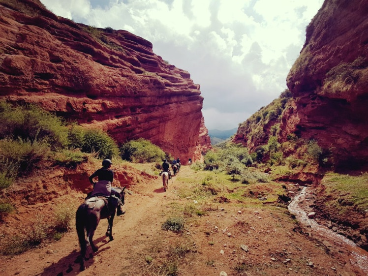 Linda's most recent holiday trip: horse riding in Kyrgyzstan