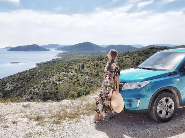 Naomi at the Makarska Riviera in Croatia