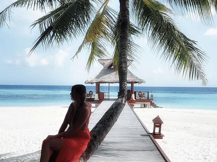 Naomi at the magic Maldives