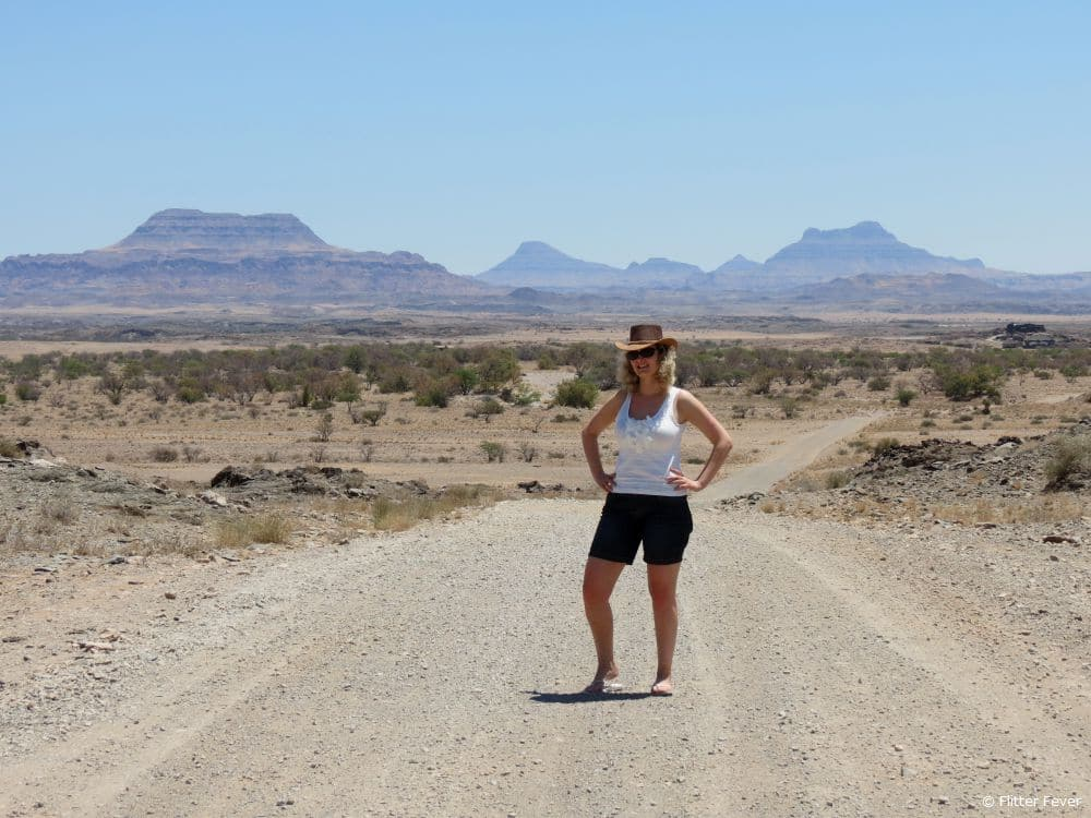 Gravel roads @ Damaraland, Namibia