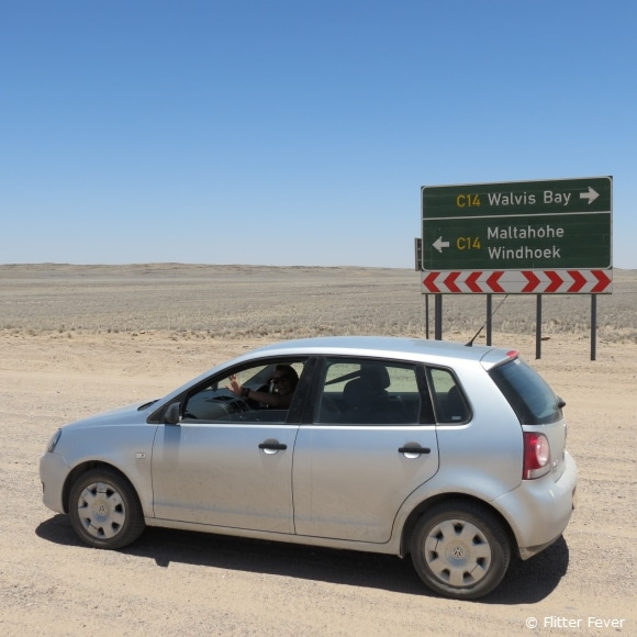 Driving the C14 from Walvis Bay to Namib-Naukluft NP