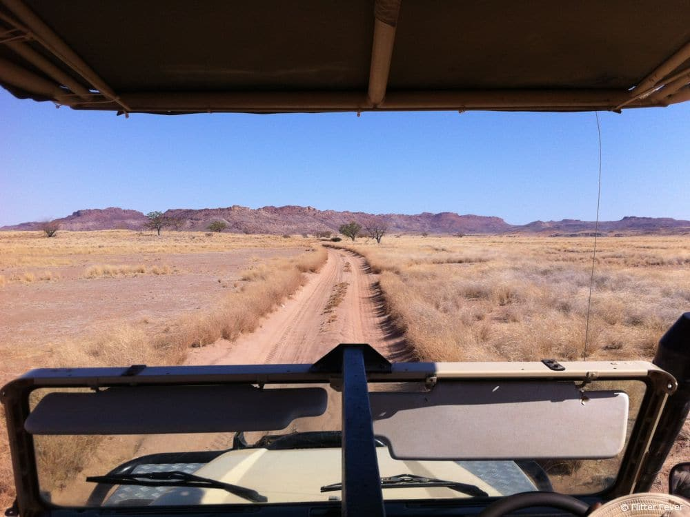Jeep ride @ Damaraland, Namibia