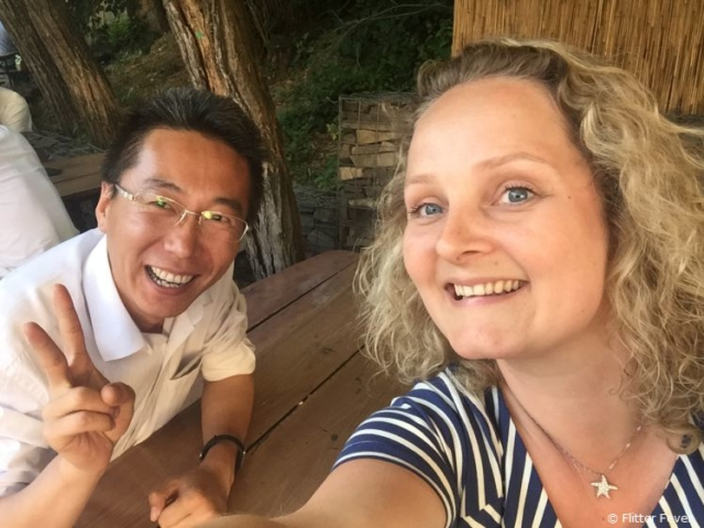 Lawrence from China and I met during a work trip in Slovakia