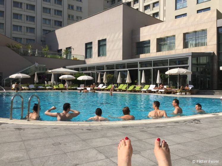 Hanging by the pool after work... (Bucharest, Romania)