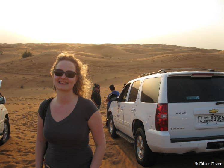 A ride through the desert outside of Dubai during a business trip