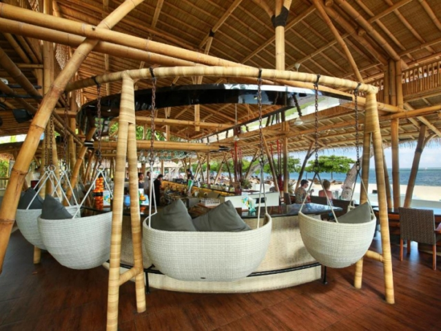 Beach bar of Prama Sanur Beach Hotel
