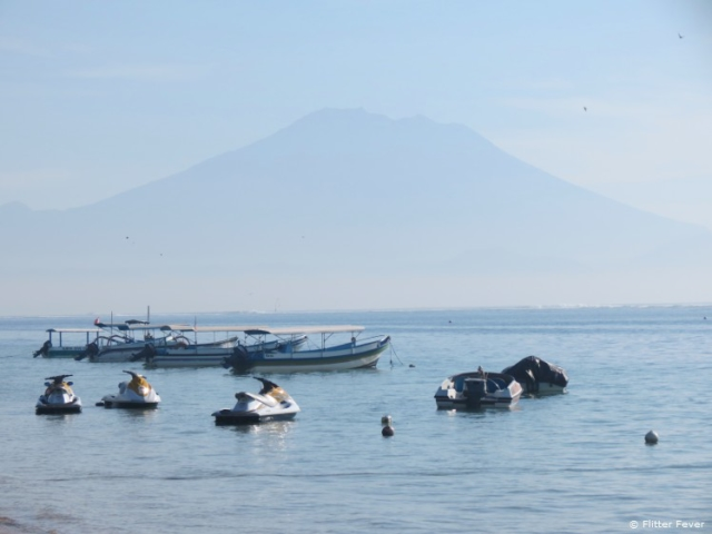 Jet skis, boats & Gunung Agun