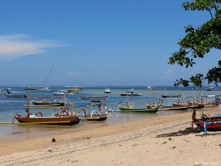 Traditional boats @ Sanur Beach, Bali