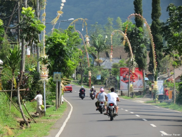 On the road @ Bali