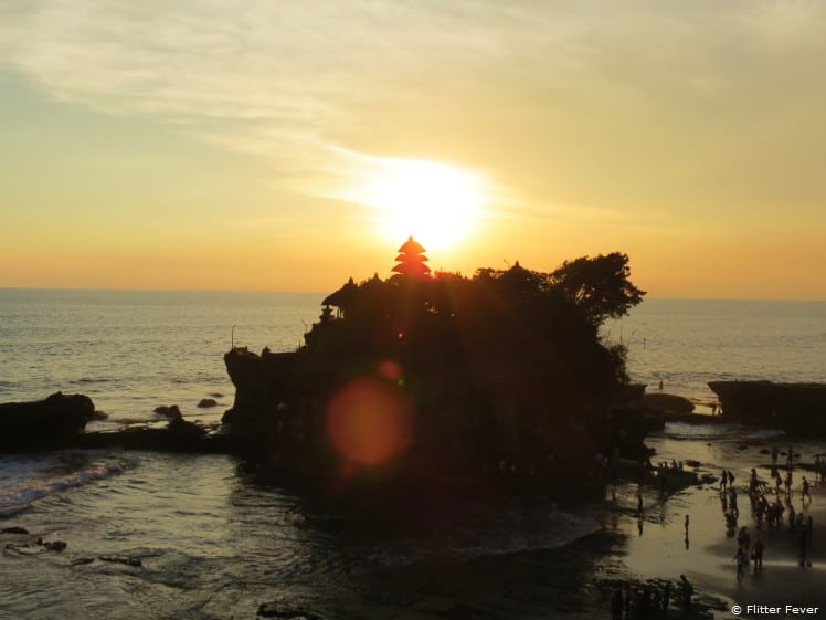 Sunset @ Pura Tanah Lot (snake temple)