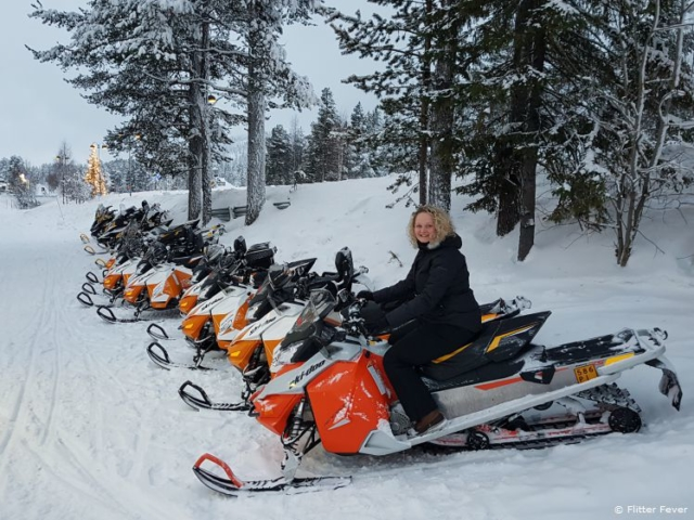 Enough snow mobiles to choose from!