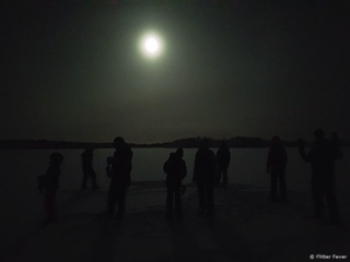 With the whole group in the middle of the frozen lake