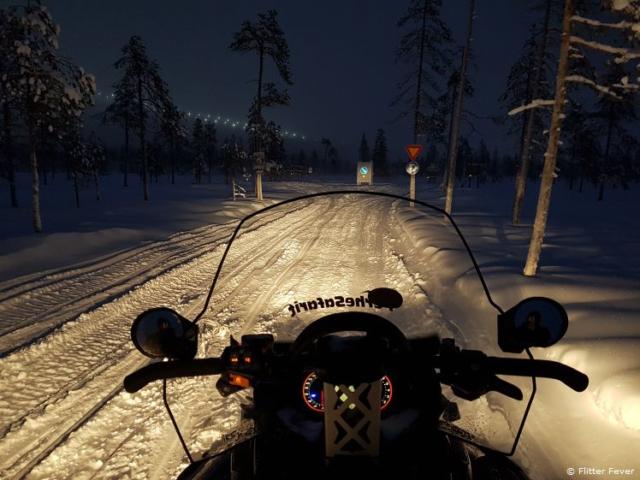 Snow mobile view @ Kittila Levi Finnish Lapland