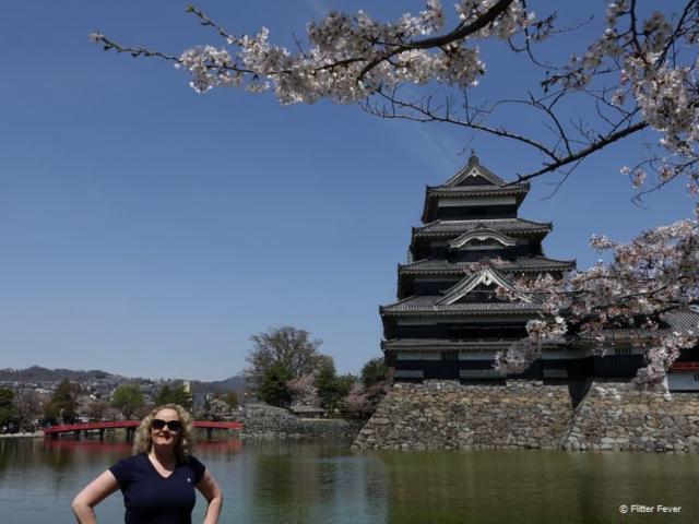 Me & the blossom @ Matsumoto Castle, Japan