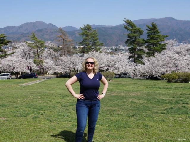 On top of the hill @ Joyama Park, Matsumoto, Japan