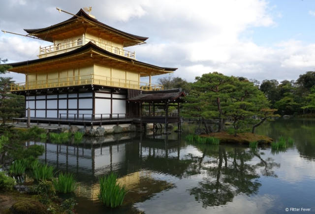 Back side of the Kinkaku-ji temple, also known as the Golden Temple