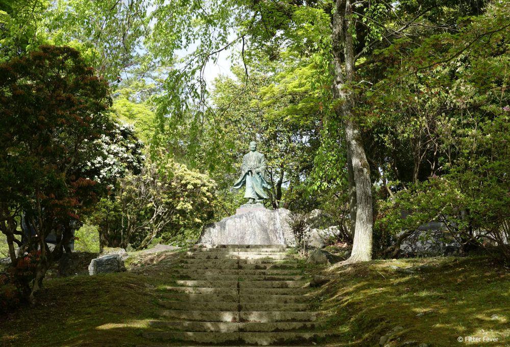 Statue near the Arashiyama bamboo forest