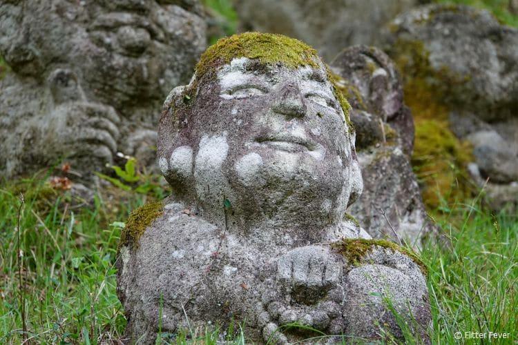 Such a satisfied look on his face @ Otagi Nenbutsu-ji temple, Kyoto