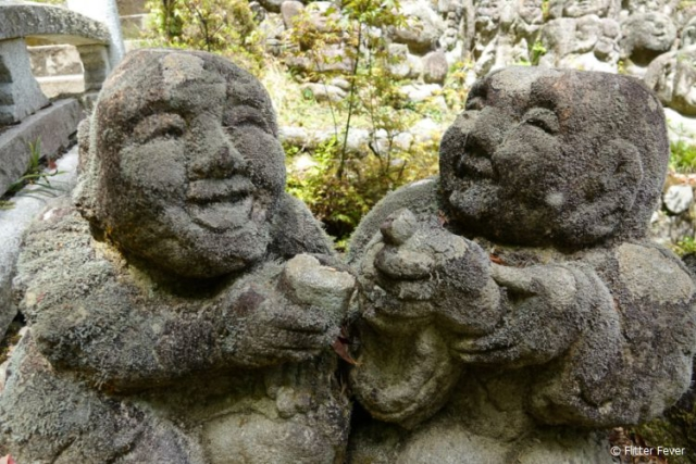 Drinking buddies @ Otagi Nenbutsu-ji, Kyoto