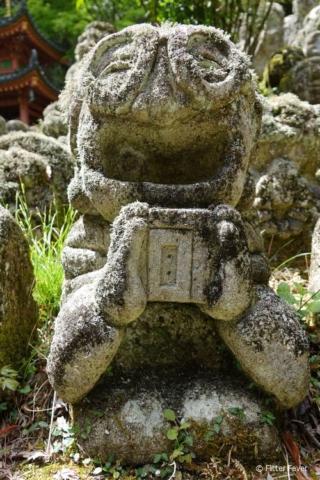 This nerdy sculpture is so funny! Otagi Nenbutsu-ji, Kyoto