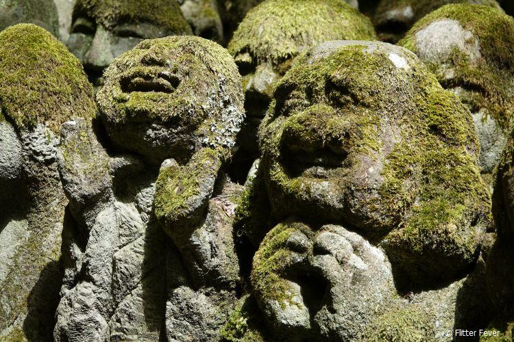 Funny sculptures @ Otagi Nenbutsu-ji temple in Kyoto