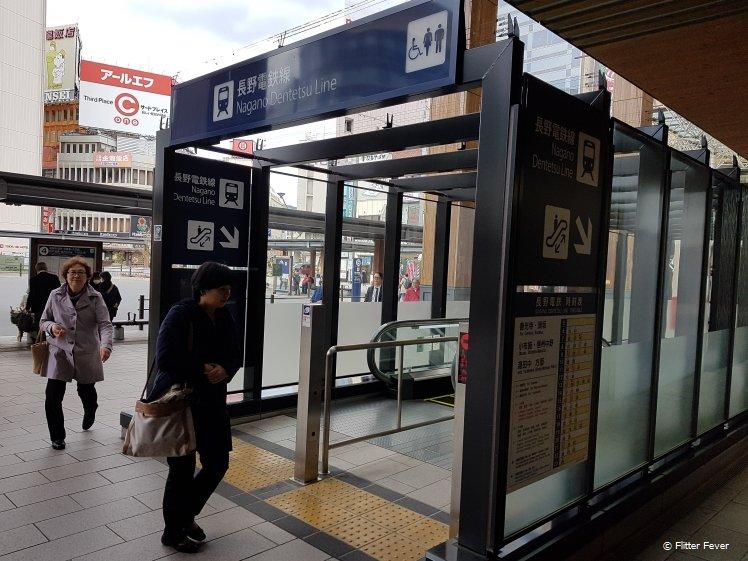 Dentetsu Line at Nagano Station